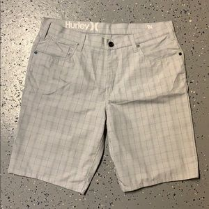 Men's Hurley plaid shorts 34